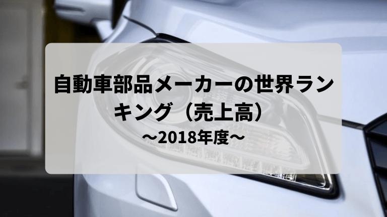 自動車部品メーカーの売上高世界ランキング