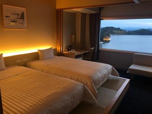 小豆島国際ホテルの最上階8階プレミアムツイン