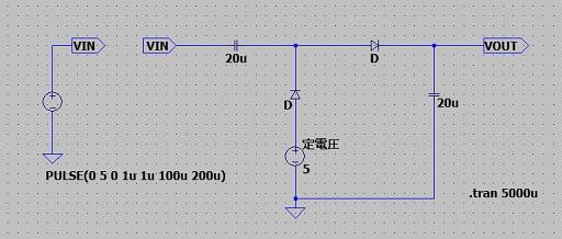 ダイオードチャージポンプ回路構成