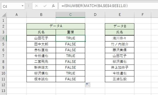重複データ抽出のSTEP2