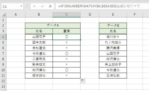 重複データ抽出のSTEP3