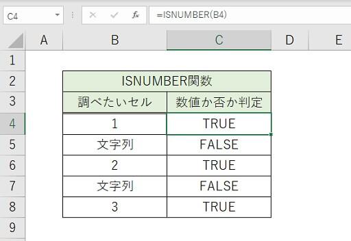 ISNUMBER関数
