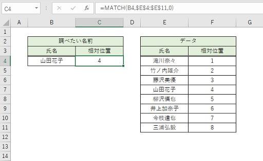 MATCH関数