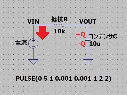 RC回路において電荷が抜ける原理