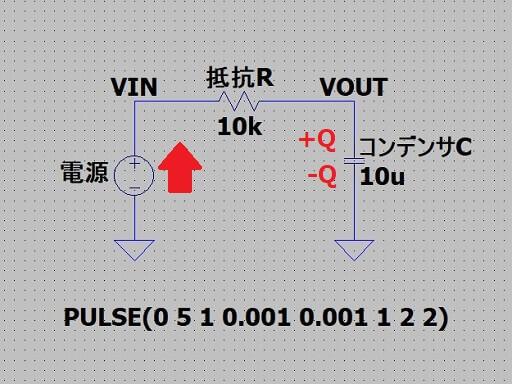 RC回路において電荷が溜まる原理