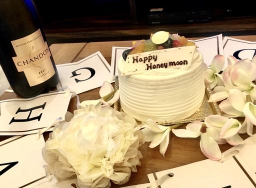 フェリスヴィラスイート宮古島上野のケーキサービス