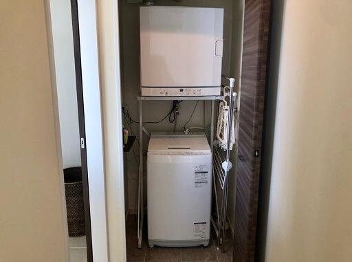 フェリスヴィラスイート宮古島上野の洗濯機と乾燥機