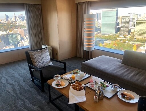 ザ・キャピトルホテル東急の朝食ルームサービス