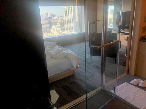 ザ・キャピトルホテル東急の風呂からの景色