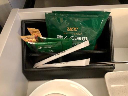 神戸ポートピアホテルのコーヒーとお茶