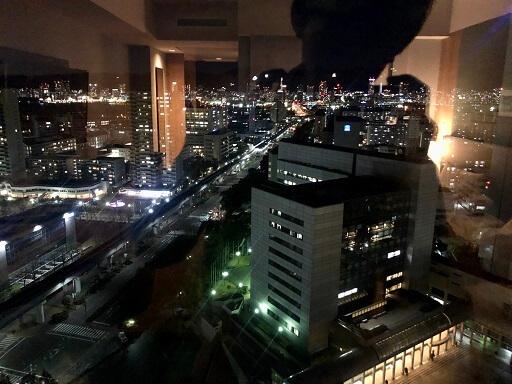 神戸ポートピアホテルの夜景