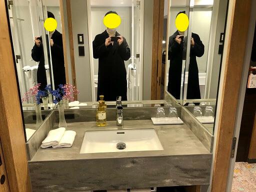 神戸ポートピアホテルの洗面台