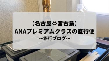 【名古屋⇔宮古島】ANAプレミアムクラスの直行便を利用してみた!
