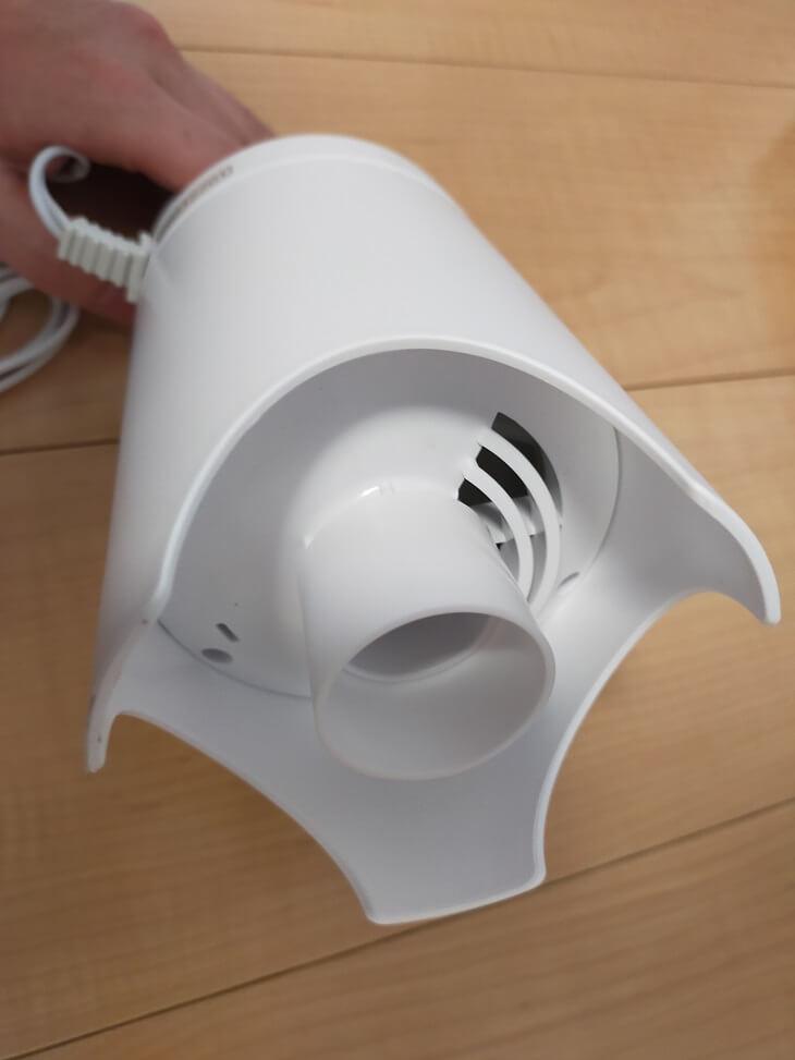 電動吸引機Airsh(エアッシュ)のアダプター付け方(装着後)