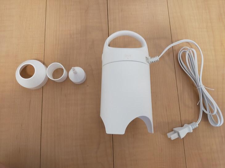 電動吸引機Airsh(エアッシュ)のアダプター