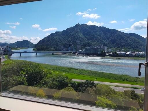 都ホテル岐阜長良川の眺望